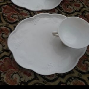 3 Vintage Harvest Colony Snack Plate Sets